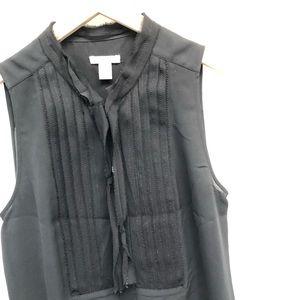J. Crew tuxedo style sleeveless blouse